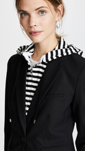 Veronica Beard | Veronica Beard Schoolboy Jacket with Striped Dickey | Clouty
