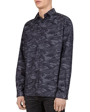 The Kooples | The Kooples Harley Camouflage Regular Fit Button-Down Shirt | Clouty