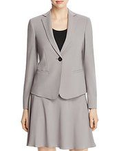 Armani Collezioni | Armani Collezioni Single-Button Stretch-Wool Blazer | Clouty