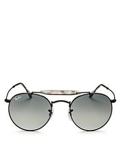 Ray Ban | Ray-Ban Brow Bar Round Sunglasses, 50mm | Clouty