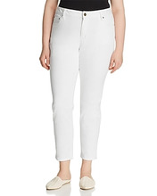 Michael Michael Kors | Michael Michael Kors Plus Selma Skinny Ankle Jeans in White | Clouty