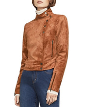 BCBGMAXAZRIA | Bcbgmaxazria Hansen Faux Suede Moto Jacket | Clouty