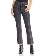 RAG & BONE | rag & bone/Jean Dylan Cropped Flared Jeans in Gray Kuro | Clouty