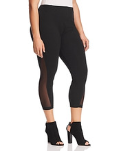 Lysse Plus | Lysse Plus Skylar Mesh-Inset Crop Leggings | Clouty