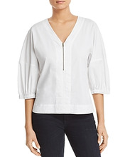Donna Karan | Donna Karan New York Zip-Front Top | Clouty