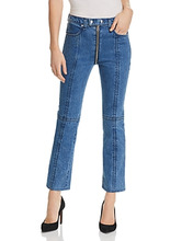 RAG & BONE | rag & bone/Jean Iver Zip-Hem Cropped Flared Jeans in Blue Bain | Clouty