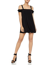 BCBGeneration | BCBGeneration Cold-Shoulder A-Line Swing Dress | Clouty