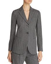 Emporio Armani | Emporio Armani Two-Button Metallic Stripe Blazer | Clouty