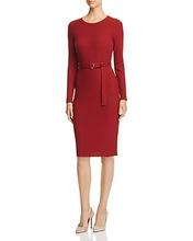 Michael Michael Kors | Michael Michael Kors Belted Rib-Knit Dress | Clouty