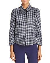 Armani Collezioni | Armani Collezioni Check-Print Virgin Wool Jacket | Clouty