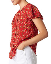 Whistles | Whistles Peony-Print Frill-Sleeve Shirt | Clouty