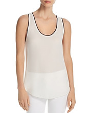 Theory | Theory Tipped Silk Tank | Clouty