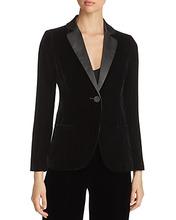Emporio Armani | Emporio Armani Contrast-Collar Velvet Blazer | Clouty