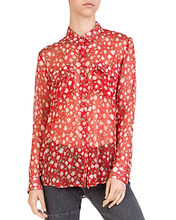 The Kooples | The Kooples Rosa Rosa Sheer Button-Down Shirt | Clouty