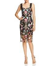 Bronx And Banco | Bronx And Banco Agata Embroidered Cocktail Dress | Clouty