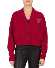 The Kooples | The Kooples Embellished Fleur-de-Lis Cropped Cardigan | Clouty