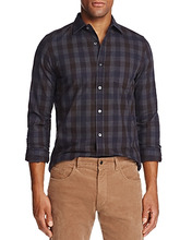 The Men's Store At Bloomingdale's | The Men's Store at Bloomingdale's Brushed-Flannel Plaid Classic Fit Button-Down Shirt - 100% Exclusive | Clouty