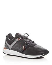 New Balance | New Balance Women's 247 Leather Lace Up Sneakers | Clouty