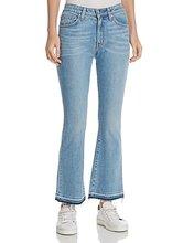 Derek Lam 10 Crosby | Derek Lam 10 Crosby Gia Mid-Rise Cropped Flare Jeans in Light Wash | Clouty