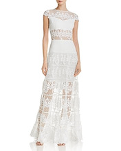 Bronx And Banco | Bronx And Banco Flamenco Lace Gown | Clouty