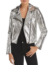 Blank NYC   Blanknyc Metallic Faux Leather Moto Jacket   Clouty