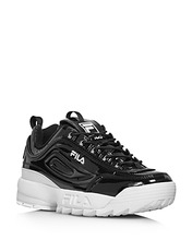 FILA | Fila Women's Disruptor Ii Round Toe Patent Leather Platform Dad Sneaker | Clouty