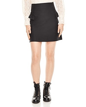 Sandro | Sandro Oro Ruffled A-Line Mini Skirt | Clouty