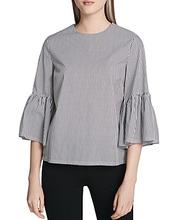 Calvin Klein | Calvin Klein Striped Bell Sleeve Top | Clouty
