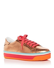 Marc Jacobs | Marc Jacobs Women's Empire Leather Lace Up Platform Sneakers | Clouty