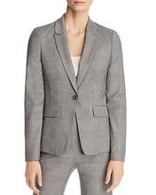 BOSS | Boss Jofilia Plaid One-Button Blazer | Clouty