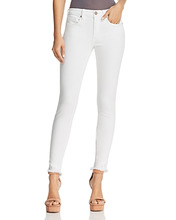 Blank NYC   Blanknyc Frayed Skinny Jeans in White - 100% Exclusive   Clouty