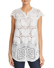 Johnny Was | Johnny Was Marietta Lace Tunic Top | Clouty