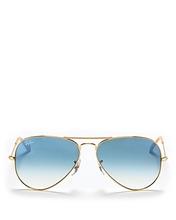 Ray Ban | Ray-Ban Unisex Brow Bar Aviator Sunglasses, 58mm | Clouty
