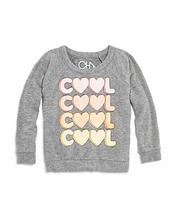 Chaser | Chaser Girls' Cool Heart Raglan Sweatshirt - Little Kid, Big Kid | Clouty