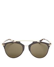 Dior | Dior Women's Reflected Mirrored Brow Bar Aviator Sunglasses, 52mm | Clouty