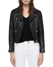 AllSaints | Allsaints Nysa Quilted Leather Biker Jacket | Clouty
