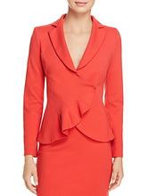 Emporio Armani | Emporio Armani Asymmetric Pleated Blazer | Clouty