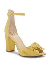 Vince Camuto | Vince Camuto Women's Carrelen Suede Bow Block Heel Sandals | Clouty