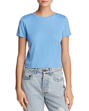 Alice + Olivia | Alice + Olivia Cindy Crewneck Cropped Tee | Clouty