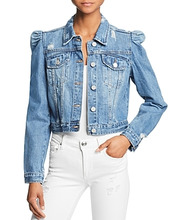 Blank NYC   Blanknyc Puff-Sleeve Cropped Denim Jacket   Clouty