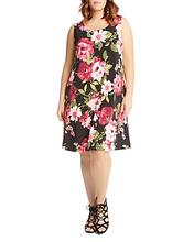 Karen Kane | Karen Kane Plus Chloe Floral-Print Tank Dress | Clouty