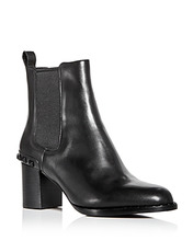 ASH | Ash Women's Vertigo Studded Leather Block-Heel Booties | Clouty
