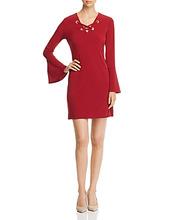 Michael Michael Kors | Michael Michael Kors Lace-Up Grommet Dress | Clouty