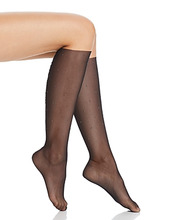 Wolford | Wolford Adeline Studded Mesh Knee-High Socks | Clouty