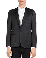 The Kooples | The Kooples Invisible Foilage Slim Fit Blazer | Clouty