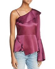 PARKER | Parker Cache Cold-Shoulder Silk Top | Clouty