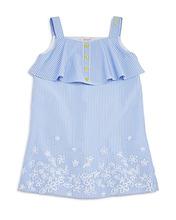 Armani Junior | Armani Junior Girls' Striped Embroidered Poplin Dress - Big Kid | Clouty