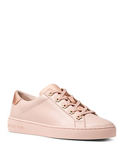 Michael Michael Kors | Michael Michael Kors Women's Irving Leather Lace Up Sneakers | Clouty