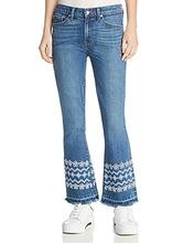Derek Lam 10 Crosby | Derek Lam 10 Crosby Jane Mid Rise Flip Flare Jeans in Medium | Clouty
