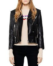 Zadig & Voltaire | Zadig & Voltaire Liya Studded Leather Jacket | Clouty